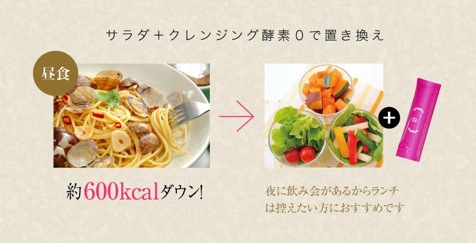 昼食 クレンジング酵素0