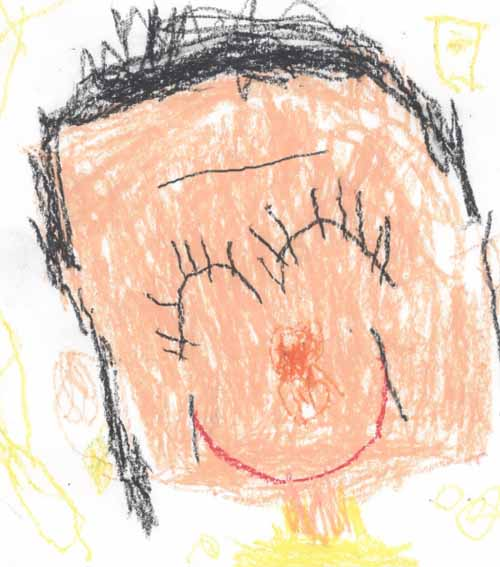 子供が書いたママの似顔絵にガッツリ「ほうれい線」・・・・www