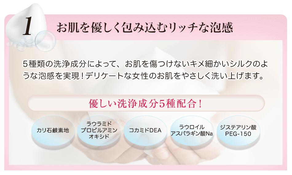 5種の洗浄成分