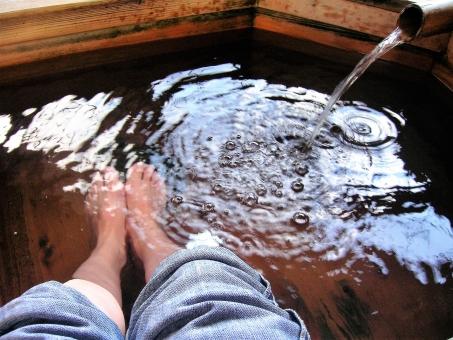 足湯やぬるめの風呂で汗腺トレーニング