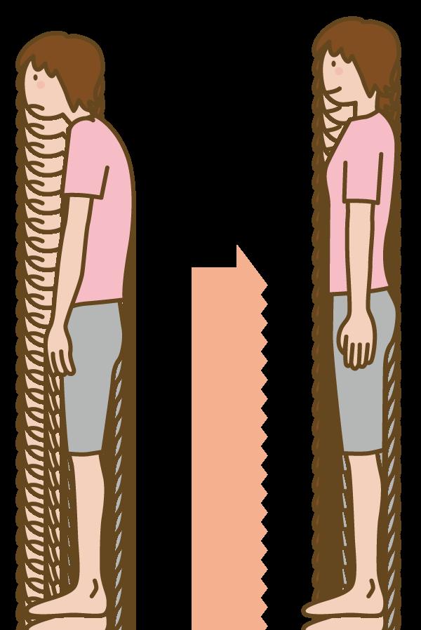 姿勢が悪いことも骨盤のゆがみの原因