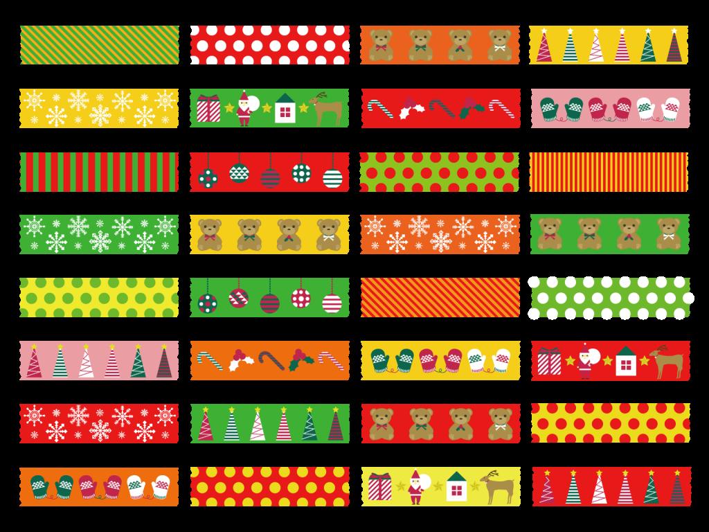 マスキングテープでクリスマスの細かい飾りつけも簡単に