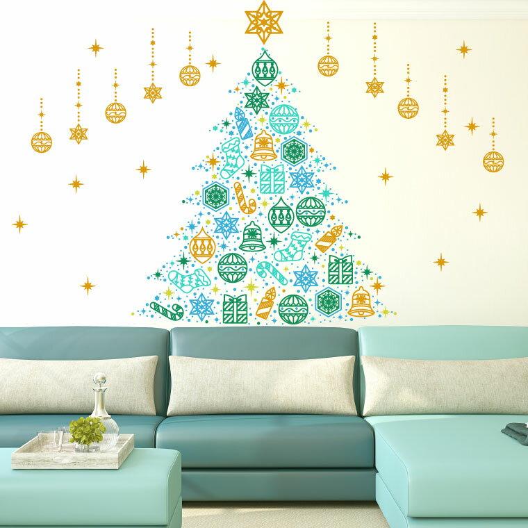 ウォールステッカーならクリスマス飾りつけも一気に完了